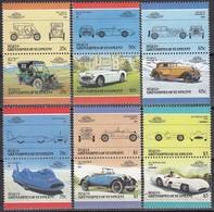 ST.VINCENT- Bequia 1986 - MiNr: 160-171 Komplett Feinst **/MNH - Autos
