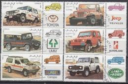 SAHARA 1992 - MiNr: Geländefahrzeuge 6x Used - Autos