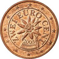 Autriche, 2 Euro Cent, 2003, TTB, Copper Plated Steel, KM:3083 - Autriche