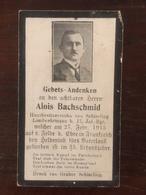 Sterbebild Wk1 Bidprentje Wo1 Avis Décès Deathcard IR17 Februar 1915 Aus Schierling - 1914-18