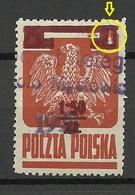 POLEN Poland 1945 Michel 409 With Additional Overprint + OPT ERROR Variety Abart - Oblitérés