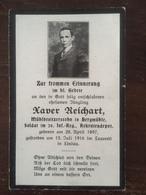 Sterbebild Wk1 Bidprentje Wo1 Avis Décès Deathcard IR20 Juli 1916 LINDAU Aus Bergmühle - 1914-18