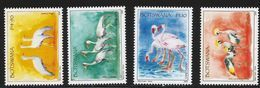 2009 Botswana Birds Oiseaux Cranes Flamingo Paintings Art  Complete Set Of 4 MNH - Botswana (1966-...)