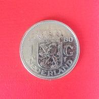 1 Gulden Münze Aus Den Niederlanden Von 1980 (sehr Schön) - 1948-1980: Juliana