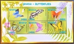 Ghana 2002**Mi.3479-84. Ghana Butterflies , MNH [4;41] - Vlinders