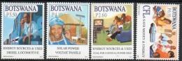 2010 Botswana Green Energy Locomotive Trains Solar Complete Set Of 4 MNH - Botswana (1966-...)