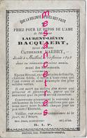 En 1893-Bailleul (59) Laurent BACQUAERT époux De Catherine BARBRY - Décès