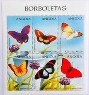 Angola 1998**Mi.Klb.1183-88. Butterflies , MNH [8;90] - Schmetterlinge