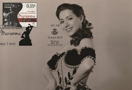 Spain 2018 - Characters - Centenary Of The Birth Of Mariemma Maxicard - 1931-Hoy: 2ª República - ... Juan Carlos I