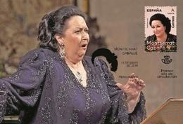 Spain 2019 - Montserrat Caballé Maxicard - 1931-Hoy: 2ª República - ... Juan Carlos I
