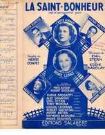 40 60 GIRAUD JEUNESSE DECKER LEBAS PARTITION LA SAINT-BONHEUR CONTET STERN BARCLAY REMUSAT GERMAINE SABLON ADISON 1952 - Sonstige