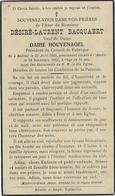 En 1935-Abeele (59) Désiré BACQUAERT époux Darie HOUVEGANEL Président Conseil De Fabrique, Né à Bailleul - Décès