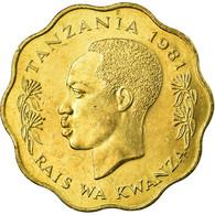 Monnaie, Tanzania, 10 Senti, 1981, TTB, Nickel-brass, KM:11 - Tanzanie