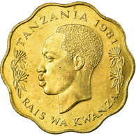 Monnaie, Tanzania, 10 Senti, 1981, TTB, Nickel-brass, KM:11 - Tanzanía