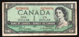 Canada 1 Dollar 1954 (1961-1972) (F-VF) P-74b - Kanada