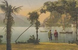 RIVA DEL GARDA-TRENTO-LAGO DI GARDA-IL LAGO DAI GIARDINI DELLA ROCCA-CARTOLINA VIAGGIATA IL 2-9-1921 - Trento