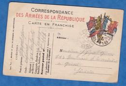 CPA écrite Par Le Caporal Jean JEZEQUEL Orig. De Poissy - 51e Régiment D'Infanterie - 1916 - Cachet Franchise Militaire - Guerre 1914-18