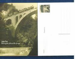 Slowenien / Slovenia 100 Jahre Bohinj Eisenbahn Ganzsache / Postcard - Brücken