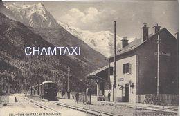 74  LES PRAZ  GARE PLM LIGNE TRAIN A VOIX METRIQUE LA FAYET VALLEE DE CHAMONIX MONT BLANC EDITEUR COUTTET AUGUSTE 119 - Stations With Trains