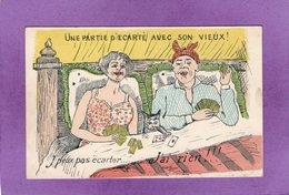 HUMOUR : Une Partie D'écarté Avec Son Vieux ! J'peux Pas écarter .... J'ai Rien !!! - 1900-1949