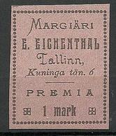 ESTLAND ESTONIA Margiäri Eichenthal Rosa Thick Carton Paper Vignette ? Reklame ? - Estonia