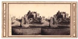 Stereo-Foto Sommer & Behles, Roma E Napoli, Ansicht Rom - Roma, Tempio Di Venere - Stereoscopio