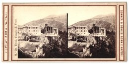 Stereo-Foto Sommer & Behles, Roma E Napoli, Ansicht Tivoli, Tempio Di Vesta - Fotos Estereoscópicas
