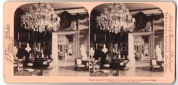 Stereo-Fotografie Jarvis, Washington D.C., Ansicht Stockholm, Queen's Reception Room Royal Palace - Stereo-Photographie
