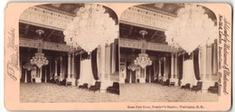 Stereo-Fotografie Jarvis, Washington D.C., Ansicht Washington D.C., Great East Room President's Mansion - Stereo-Photographie