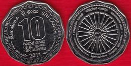 """Sri Lanka 10 Rupees 2011 """"Sambuddathva Jayanthi"""" UNC - Guyana"""