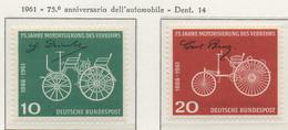 PIA - GERMANIA - 1961 : 75° Anniversario Dell' Automobile  - (Yv 235-36) - Automobili