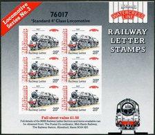 GB UK 1992 Mid-Hants Railway Letter Fee Stamps Sheet TRAIN Steam Locomotive Eisenbahn Chemin De Fer Local Great Britain - Eisenbahnen