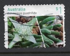 2017 AUSTRALIA  Australian Succulents VERY FINE POSTALLY USED Booklet $1 Green STAMP - 2010-... Elizabeth II