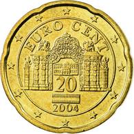 Autriche, 20 Euro Cent, 2004, SUP, Laiton, KM:3086 - Autriche