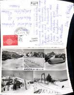 620452,Mehrbild Ak Amden Skigebiet Wintersport Skilift - SG St. Gallen