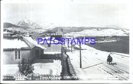 114657 ARGENTINA USHUAIA TIERRA DEL FUEGO VISTA DE LA CALLE NEVADA  POSTAL POSTCARD - Argentine