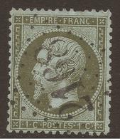 FRANCE. 1862. POSTMARK. 2168 - MAINSAT. 1c OLIVE. USED. - 1862 Napoleon III
