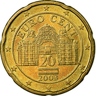 Autriche, 20 Euro Cent, 2003, SUP, Laiton, KM:3086 - Autriche