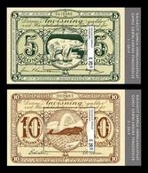 Greenland 2019 Mih. 821/22 (Bl.92/93) Old Banknotes (III). Fauna. Polar Bear. Whale MNH ** - Ungebraucht