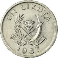 Monnaie, CONGO, DEMOCRATIC REPUBLIC, Likuta, 1967, Paris, TTB, Aluminium, KM:8 - Congo (Rép. Démocratique, 1964-70)