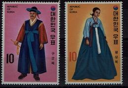 Korea-Süd  South Korea 1973 - Trachten  Folk Costume - Hofkleidung - MiNr 897-898 - Kostüme