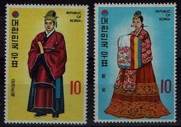 Korea-Süd  South Korea 1973 - Trachten  Folk Costume - Hofkleidung - MiNr 886-887 - Kostüme