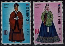 Korea-Süd  South Korea 1973 - Trachten  Folk Costume - Hofkleidung - MiNr 880-881 - Kostüme