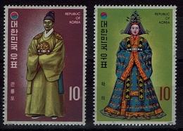Korea-Süd  South Korea 1973 - Trachten  Folk Costume - Hofkleidung - MiNr 873-874 - Kostüme