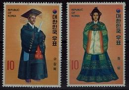 Korea-Süd  South Korea 1973 - Trachten  Folk Costume - Hofkleidung - MiNr 866-867 - Kostüme