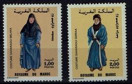 Maroc Marokko 1987- Trachten  Folk Costume - MiNr 1123-1124 - Kostüme