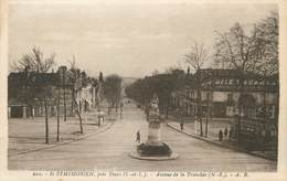 """/ CPA FRANCE 37 """"Saint Symphorien Près Tours, Av De La Tranchée"""" - Other Municipalities"""