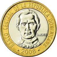 Monnaie, Dominican Republic, Sanchez, 5 Pesos, 2008, SPL, Bi-Metallic, KM:89 - Dominicaine
