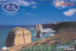 Carte Prépayée Japon - Paysage - AUSTRALIE - GREAT OCEAN ROAD In AUSTRALIA Japan Prepaid Card - Paysages