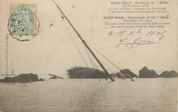 "/ CPA FRANCE 35 ""Saint Malo, Naufrage Du Hilda "" - Saint Malo"